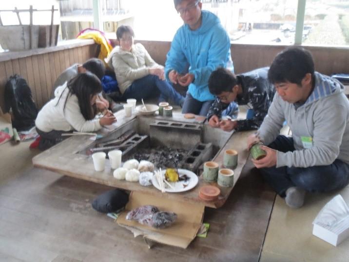 親子で田舎体験in大川の様子